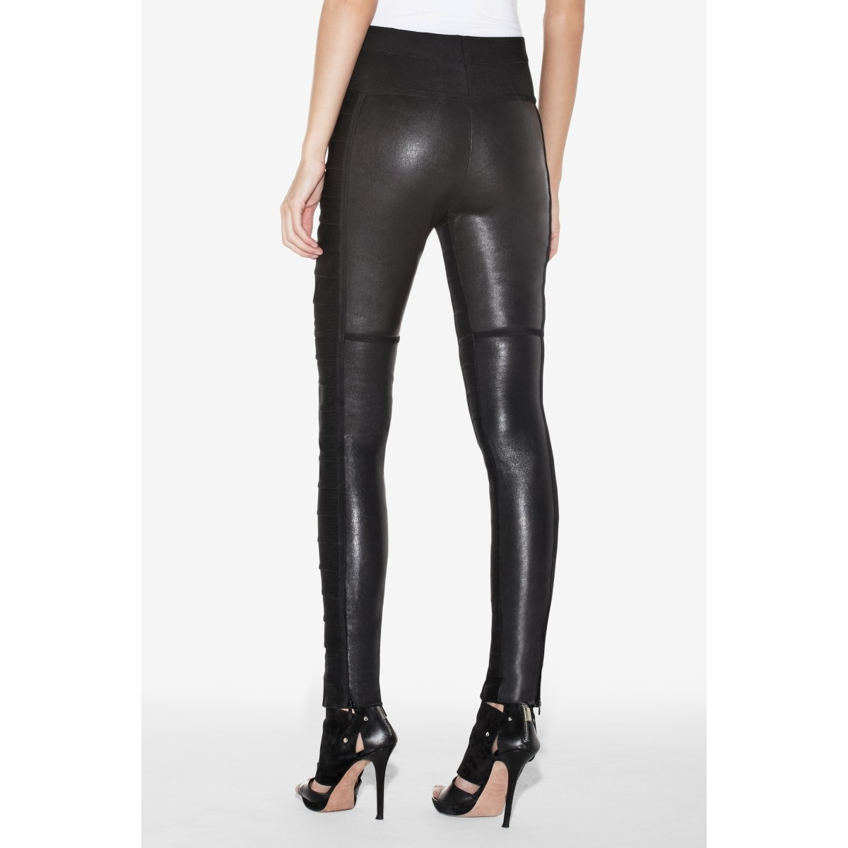 Herve Leger Paz Leather Pant